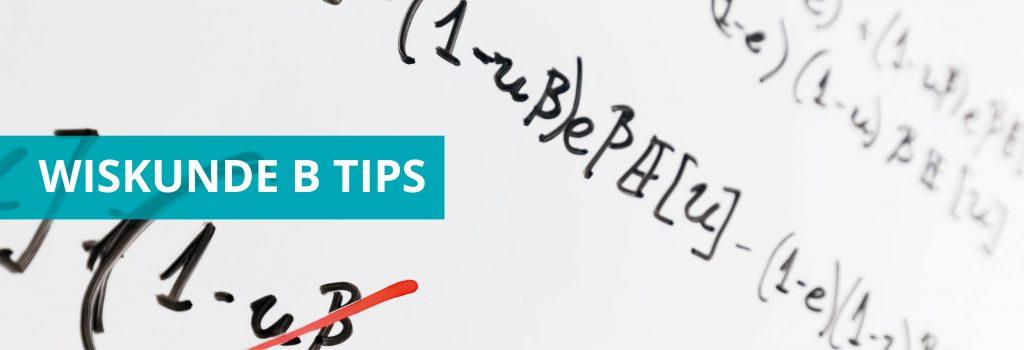 Wiskunde B tips